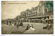 CPA -Carte postale- France-Cabourg - La Plage et le Grand Hôtel (CP3748)