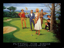 PUTTING FOR BIRDIE Marilyn Monroe James Dean John Wayne++ GOLF ART POSTER