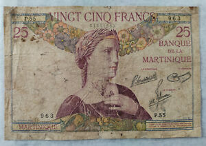 French Martinique, 25 Francs 1930, Banknote