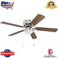 Harbor Breeze Armitage 52-in Brushed Nickel Indoor Flush Mount Ceiling Fan Best