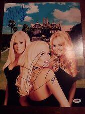Playboy Girls Next Door Bridget,Holly & Kendra Autographed 14 x 12 photo PSA/DNA