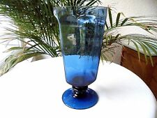"Lenox Antique Dark Blue Iced Tea Glass 6 3/4"" Tall - Retired"