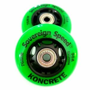 76mm Outdoor Replacement Inline Wheels razor ripstik ripsurf casterboard 2-Pack
