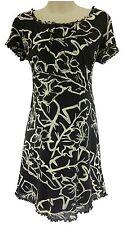Medium MOTHERHOOD MATERNITY ABSTRACT FLORAL DRESS Summer Baby Shower Pea in Pod