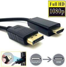 ✅2m Adapter Kabel Display Port zu HDMI DP auf HDMI Konverter Kabel 2K 4K *NEU*✅
