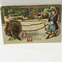 Vintage Thanksgiving 1912 Postcard Holiday Card Newport Washington