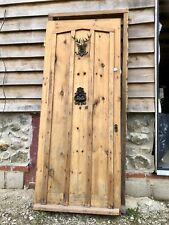 More details for solid pine cottage antique style front door and frame