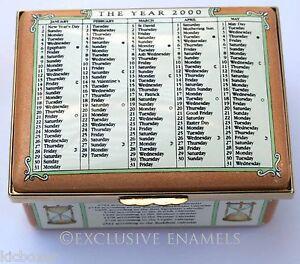 Halcyon Days Enamels The Calendar Box Year 2000 Limited Edition Enamel Box
