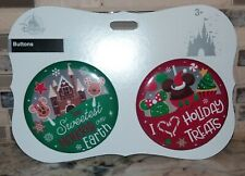 Disney Parks Sweet Treats Snack Food Icons Christmas Holiday Button Set ~ NEW