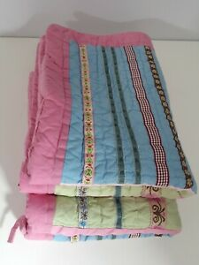 Set of 2 Pottery Barn Kids Quilted sham Pink Multicolored Standard Patchwork