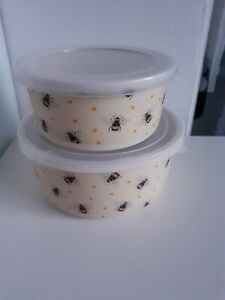 2 Pack Bamboo Tubs Bee Bumble Bee Storage Tubs