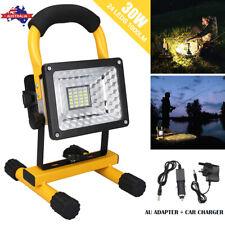 30W LED Rechargeable Flood Spotlight Light Outdoor Garden Emergency Work Lamp
