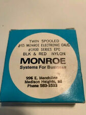 Black/Red Nylon Twin-Spooled Ribbon Monroe Printing Calculator #65 Genuine