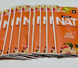 Pruvit Keto os-Nat Ketones- Life's a Peach - 10 Sachets Caffeine New!