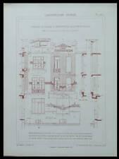 MONTREUIL, ECOLE BOISSIERE -1928- PLANCHES ARCHITECTURE- NANQUETTE
