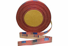 Vintage  Antique Silk/Cotton GAR Flag Ribbon Military Medals Quilting 5/8""