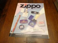 FULL SIZE PROMOTIONAL PRODUCTS ZIPPO LIGHTER CATALOG 1998 UNUSED