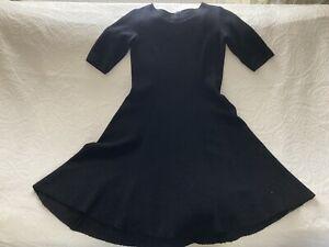Hobbs Wool Skater Dress Black Size 14