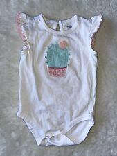 Gymboree Baby Girl's Infant One Piece Romper Size 12-18M Cute Cactus White
