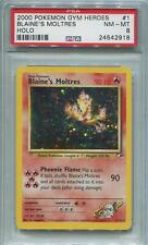 Pokemon Gym Heroes Single Blaine's Moltres 1/132 - PSA 8  *24542918*