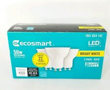 Ecosmart 50 Watt Equivalent Energy Star LED Light Bulb GU10 Plastic Reflector 3P