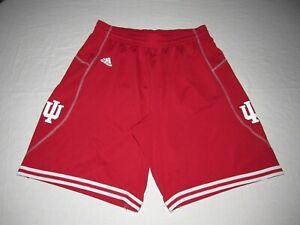 "Indiana Hoosiers IU Men's Adidas Red White Shorts Size XL Waist 34""-38"""