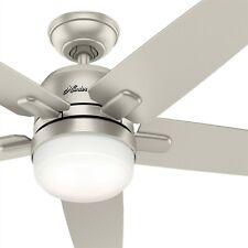 Hunter Fan 52 inch Contemporary Matte Nickel Ceiling Fan with Light Kit & Remote
