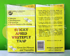 Sticky Aphid Whitefly Trap 2pk (10 ct) Control Pests Long Lasting Weatherproof