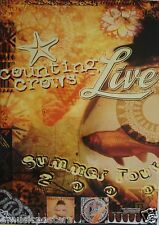 """Counting Crows / Live """"Summer Tour 2000"""" U.S. Promo Poster - Alternative Rock"""