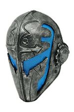 Blue Silver Full Face Wire Mesh Protection Airsoft Templar Mask PROP F565