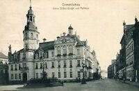 Crimmitschau Obere Silber Straße und Rathaus