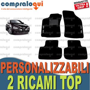 TAPPETINI tappeti per AUTO SU MISURA per ALFA ROMEO 147  + 2 RICAMI TOP
