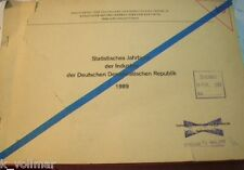 DDR Statistisches Jahrbuch 1989 der Industrie war GEHEIM/restricted secret STASI