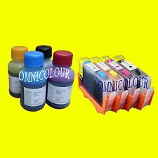 4 cartucho compatible, recargables con chips para HP920 HP 920 +400ml tinta 7000