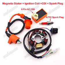 Magneto Stator Racing Ignition Coil AC CDI Spark Plug GY6 49 50cc Scooter Moped