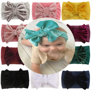 Baby Headband Bow Knot Big Vintage Retro Hair Ribbon Childrens Kids Girls Boys