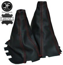 RED STICH MANUAL GEAR & HI LOW LEATHER GAITERS FOR MITSUBISHI L200 2006-2010
