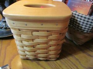 Longaberger Tall Tissue Basket 4 pc. Combo W/ Lid, Protector & Liner