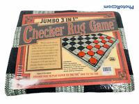 """🔥 Jumbo Checker Rug Game • 3"""" Diameter Jumble Checkers • Machine Washable • New"""