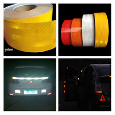5cm x10m Yellow Reflective Conspicuity Tape Car Night Safety Warn Sign Stickers