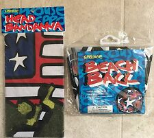 RARE Stephen Sprouse Target Beach Ball And Bandana Set SEALED Mint Fashion 2001