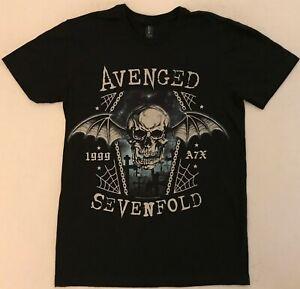 AVENGED SEVENFOLD Size Small Black T-Shirt