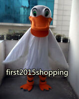 Advertising White Duck Mascot Costume Fancy Dress Adult Professional Clothing us