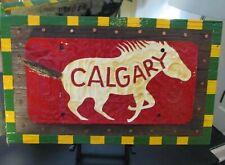 LEVENT ISIK Painting CALGARY HORSE Columbus OHIO art contemporary folk outsider