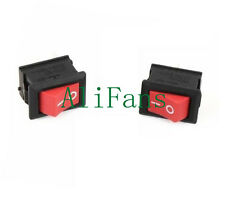 5Pcs KCD1-101 Red Rocker Switch 2 Pin KCD1-101 250V 6A Boatlike Switch