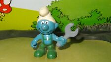 Smurfs Mechanic Smurf Handy Wrench 20012 Rare Original Vintage Display Figurine