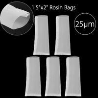 5pcs Rosin Bags 1.5'' x 2'' 25μm Mesh Micron Nylon Screen Heat Oil Press Filter