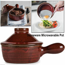 MICROWAVE HOT POT CERAMIC COOKWARE STONEWARE STEAM REALIZING LID EASY COOKING
