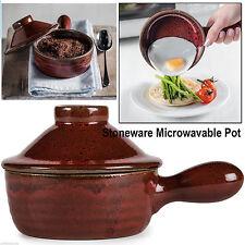 FORNO A MICROONDE HOT POT CERAMICA Cookware STONEWARE VAPORE realizzazione coperchio cottura facile