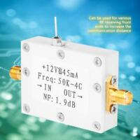 LNA Low Noise 50K-4G High Gain 25DB @ 0.8G High Gain Flatness RF Amplifier US